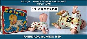 ANTIGA BONECA CRAWLING BABY.JAPONESA.NA CAIXA ORIGINAL.MOVIDA À CORDA