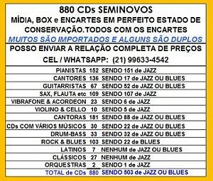 880 CDs SEMINOVOS- PEÇA A relação de PREÇOS WHATSAPP 21 99633-4542