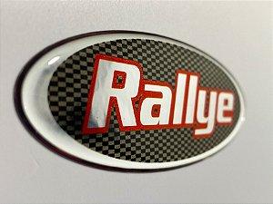 Par emblemas resinados Peugeot Rallye 206 306 padrão original