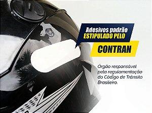 Cartela de adesivos Refletivos para capacete - Padrão Contran