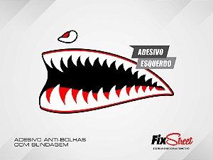 Par de adesivos Boca Tubarão para Tanque Suzuki Intruder