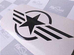 Adesivo estrela militar air force para carenagem de motos