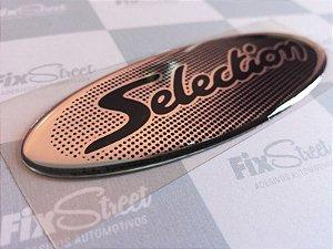 Par de emblemas Peugeot 106-206 Selection e Soleil padrão original