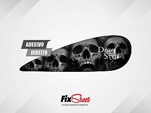 Par de adesivos Gota Skull Caveira PB para tanque Yamaha Drag Star