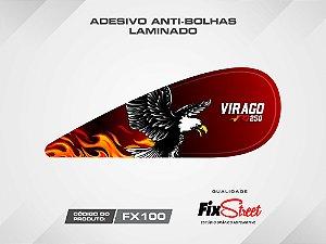 Par de adesivos gota Eagle Flames para tanque Yamaha Virago 250