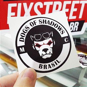Kit com 100 adesivos personalizados para moto grupo/moto clube