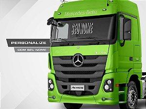 Adesivo personalizado para parabrisa de caminhão