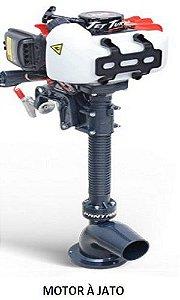 MOTOR À JATO  COM PARTIDA MANUAL - controle remoto de velocidade e direção  -  suporte traseiro para o motor incluídos