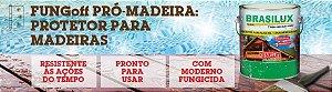 FungOff Protetor de Madeiras Stain Impregnante Brasilux