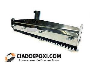 Rodo dentado inox para piso autonivelante 40 Cm