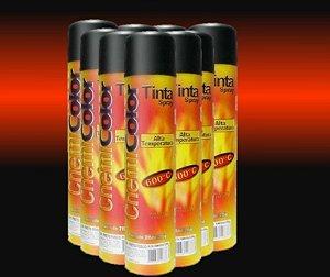 Tinta Spray Alta Temperatura até 600º Chemicolor