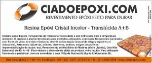 RESINA EPÓXI INCOLOR YN1828 Cia do Epóxi