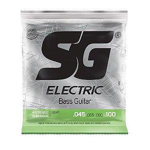 Encordoamento .045 para baixo elétrico 4 cordas tensão leve - SG