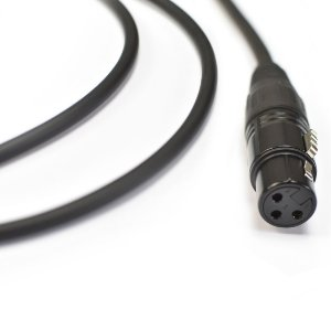 Cabo para Microfone 0,20mm Preto Emborrachado XLRm x XLRf Ninja 15ft/ 4,57m - Santo Angelo