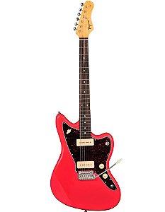 Guitarra Jazzmaster Woodstock Series TW-61-FR (Fiesta Red - Escala Escura - Escudo Tortoise) - Tagima