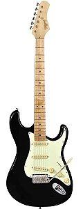 Guitarra Stratocaster Classic Series T-635-BK (Preta - Escala Clara - Escudo Mintgreen) - Tagima