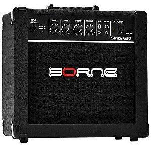 Amplificador Para Guitarra Strike G30 Preto - Borne