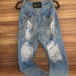 Calça Jeans Rock Glam