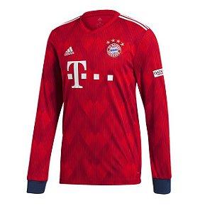 Camisa Bayern de Munique Manga Longa Home 18 19 s nº Torcedor Adidas  Masculina dd2c6d53b9e04