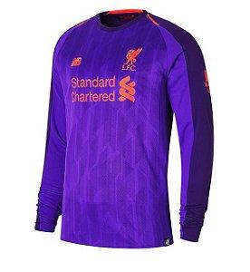 Camisa Liverpool Manga Longa Away I 18 19 - s n° - Torcedor 368d47d5affcd
