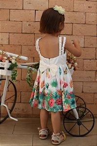 Vestido Infantil Tropical Flores