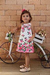 2509 Vestido Infantil Tribal Flores