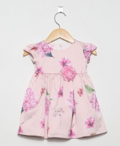 1449 - vestido rosa floral hortência