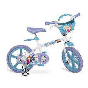 Bicicleta Aro 14 Frozen Disney Bandeirante