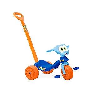 Triciclo Zootico Passeio E Pedal Azul Bandeirante