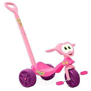 Triciclo Zootico Passeio E Pedal Rosa Bandeirante