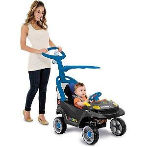 Carro Smart Baby Comfort Grafite E Azul Bandeirante