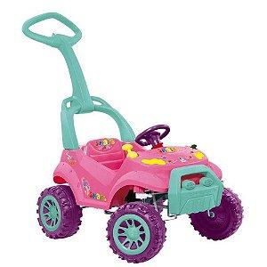 Carro Smart Passeio E Pedal Rosa Bandeirante