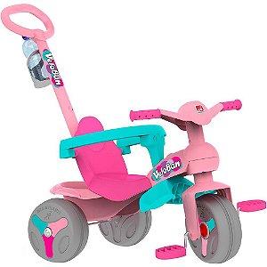 Triciclo Veloban Pedal Rosa Bandeirante