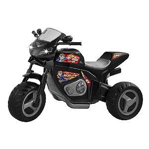 Moto Elétrica Max Turbo 6V Preta Magic Toys