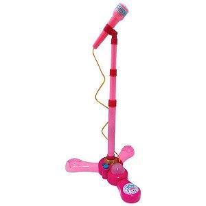 Microfone Infantil Com Pedestal Rosa Fênix