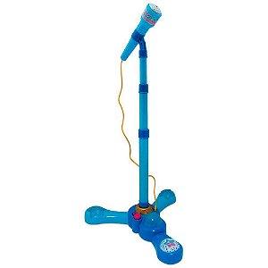 Microfone Infantil Com Pedestal Azul Fênix
