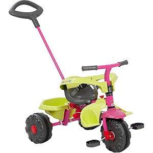 Triciclo Smart Plus Rosa Bandeirante