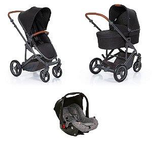 Carrinho De Bebê COMO4 Woven Black ABC Design