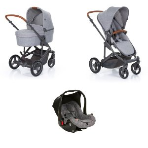 Carrinho De Bebê COMO4 Woven Grey ABC Design