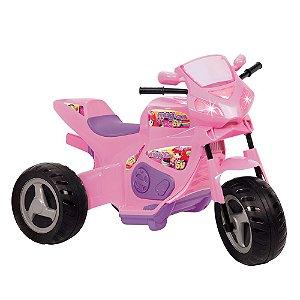 Moto Elétrica Max Turbo 6v Rosa Magic Toys