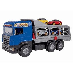 Caminhão Super Cegonha Azul Magic Toys