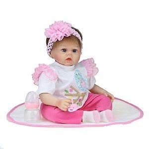 Bebê Reborn Kiki Doll Laura Fenix