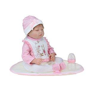 Bebê Reborn Kiki Doll Deitada Duda Fênix