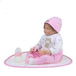 Bebê Reborn Kiki Doll Deitada Camila Fenix