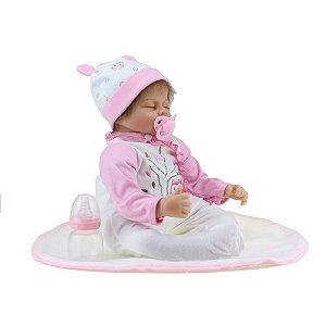 Bebê Reborn Kiki Doll Deitada Bia Fenix