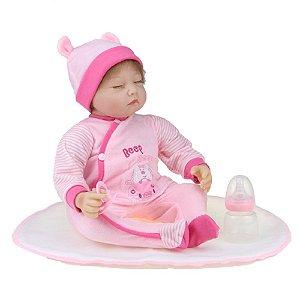 Bebê Reborn Kiki Doll Deitada Amanda Fenix