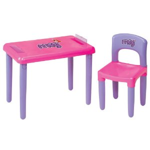 Mesa Com Cadeira Meg Rosa Magic Toys
