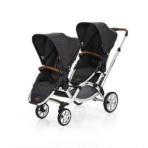 Carrinho de Bebê Para Gêmeos Zoom Travel System Piano ABC Design