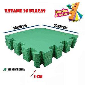 Tatames de Eva 20 Placas Verde Bandeira 50x50 20mm