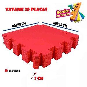 Tatames de Eva 20 Placas Vermelho 50x50 20mm